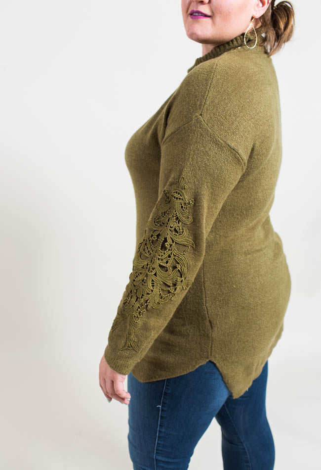Crochet Applique Sweater