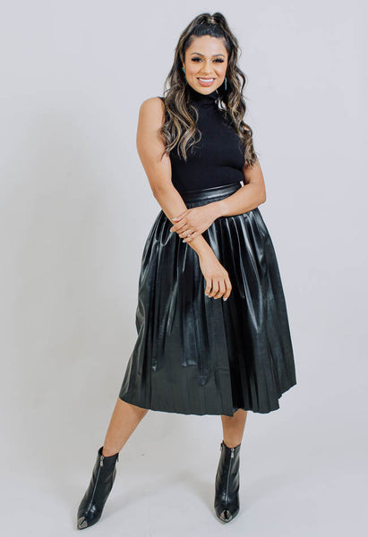 Luxe Leather Midi- Black- Common Assembly