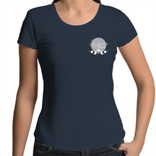 Load image into Gallery viewer, Hand Drawn Dapper Kitty Art - Womens Scoop Neck Tee