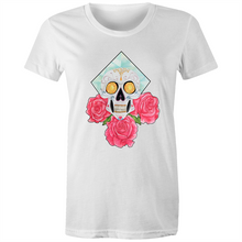 Load image into Gallery viewer, Sparkle Skull Tee front print