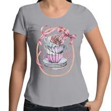 Load image into Gallery viewer, Teacups Scoop Neck Tee - front print