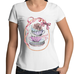 Teacups Scoop Neck Tee - front print