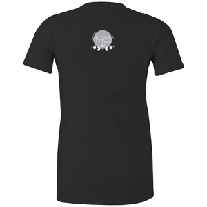 Sugar Skull dark fitted tee front print