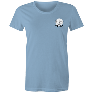 Sugar Skull - Fitted tee back print lights greyscale
