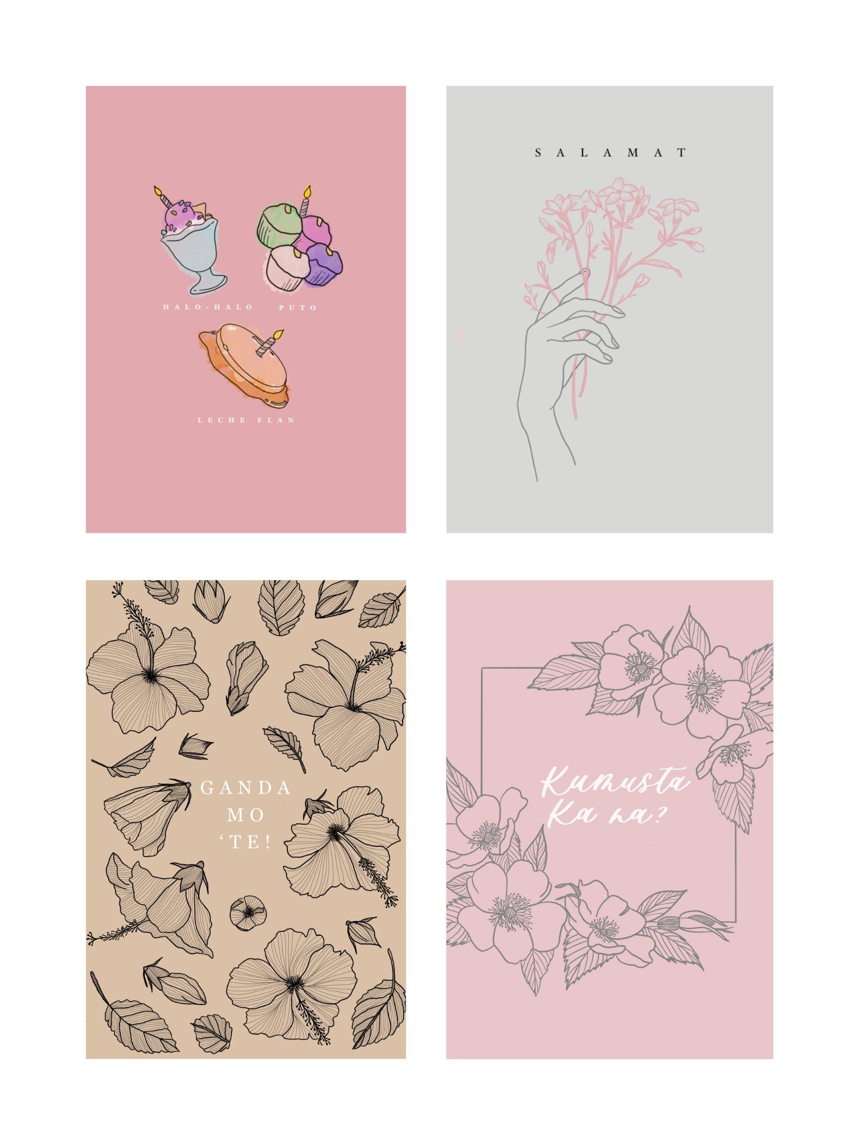 8 Piece Greeting Card Pack