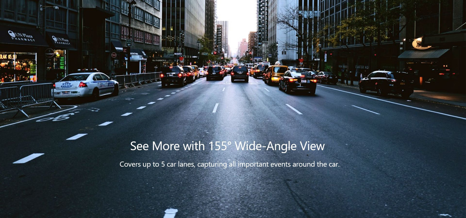 150 degree wide-angle view