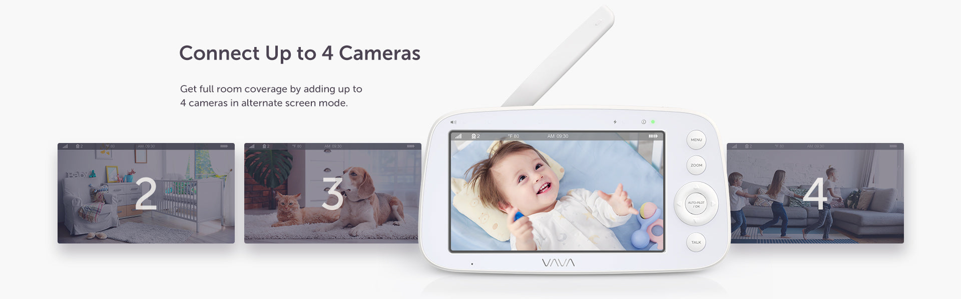 Connect Up to 4 Cameras