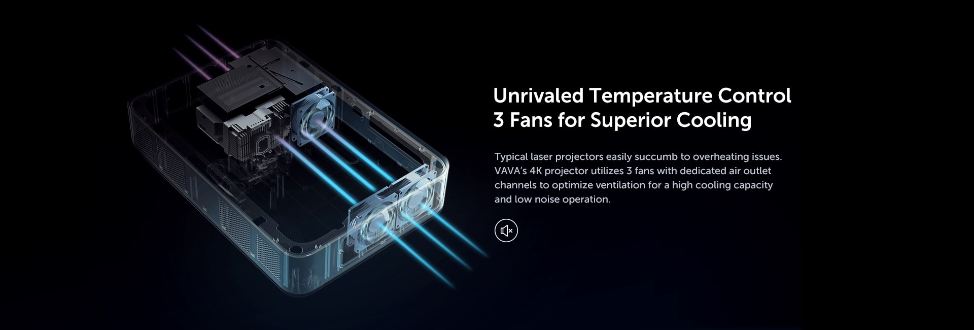 Unrivaled temperature control 3 fans for superior cooling