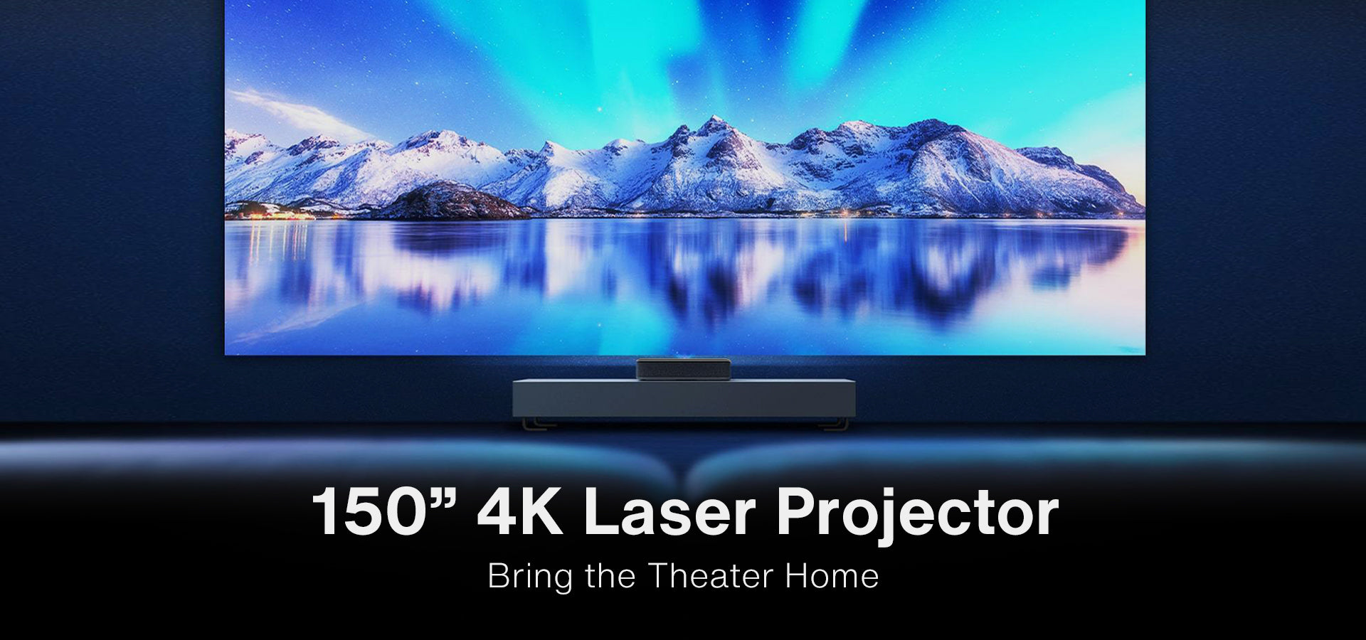 150'' 4K Laser Projector bring the theater home