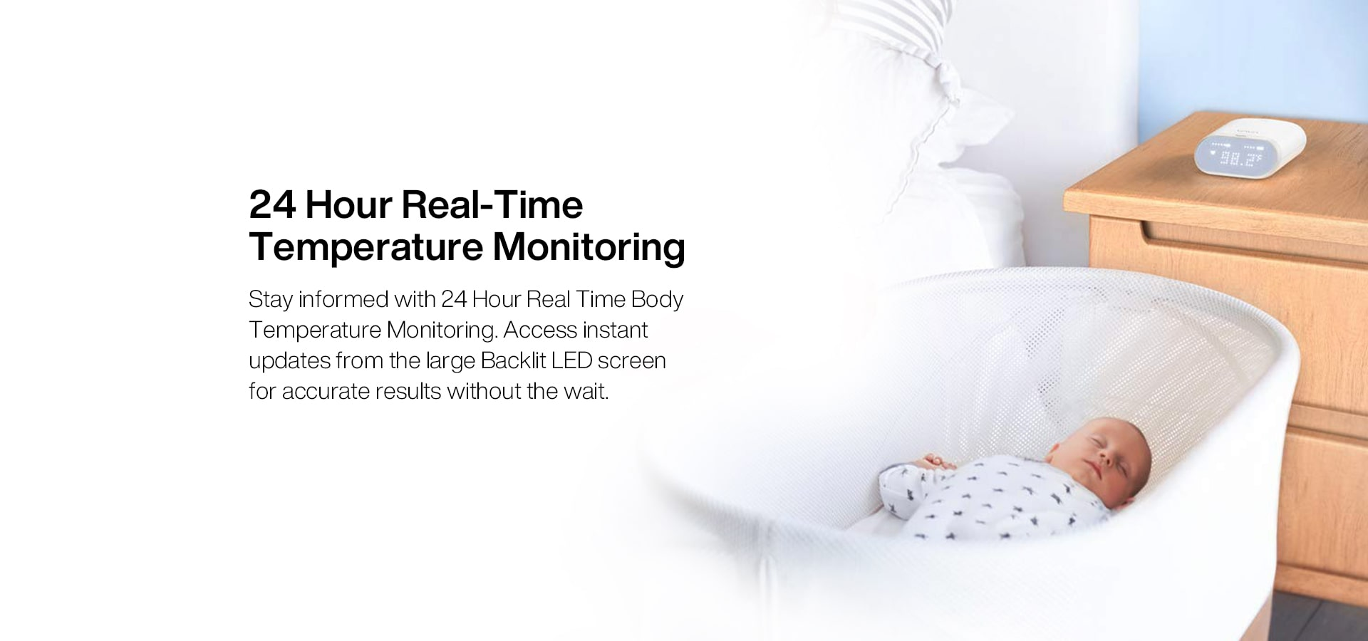 24 hour real-time temperature monitoring