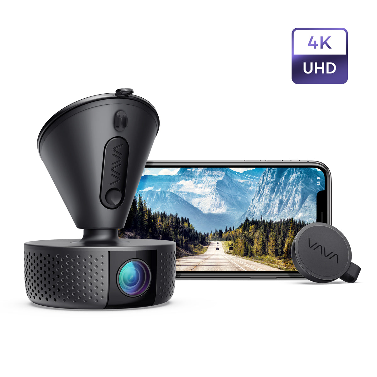 VAVA 4K UHD Dash Cam With Sony Night Vision