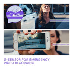 g-sensor for emergency video recording