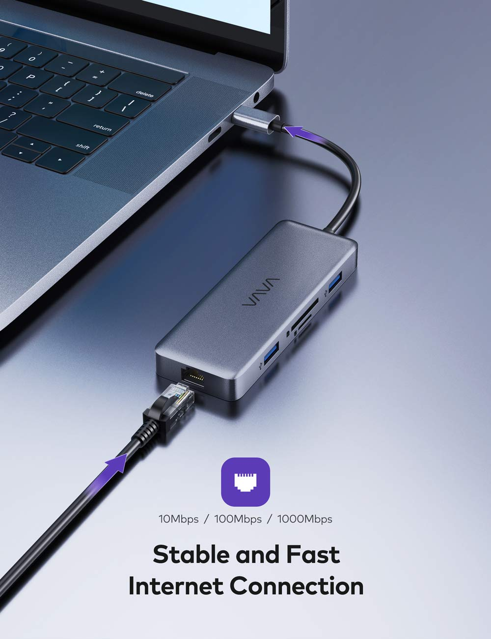 Mac-Style Design USB-C multiport adapter to internet