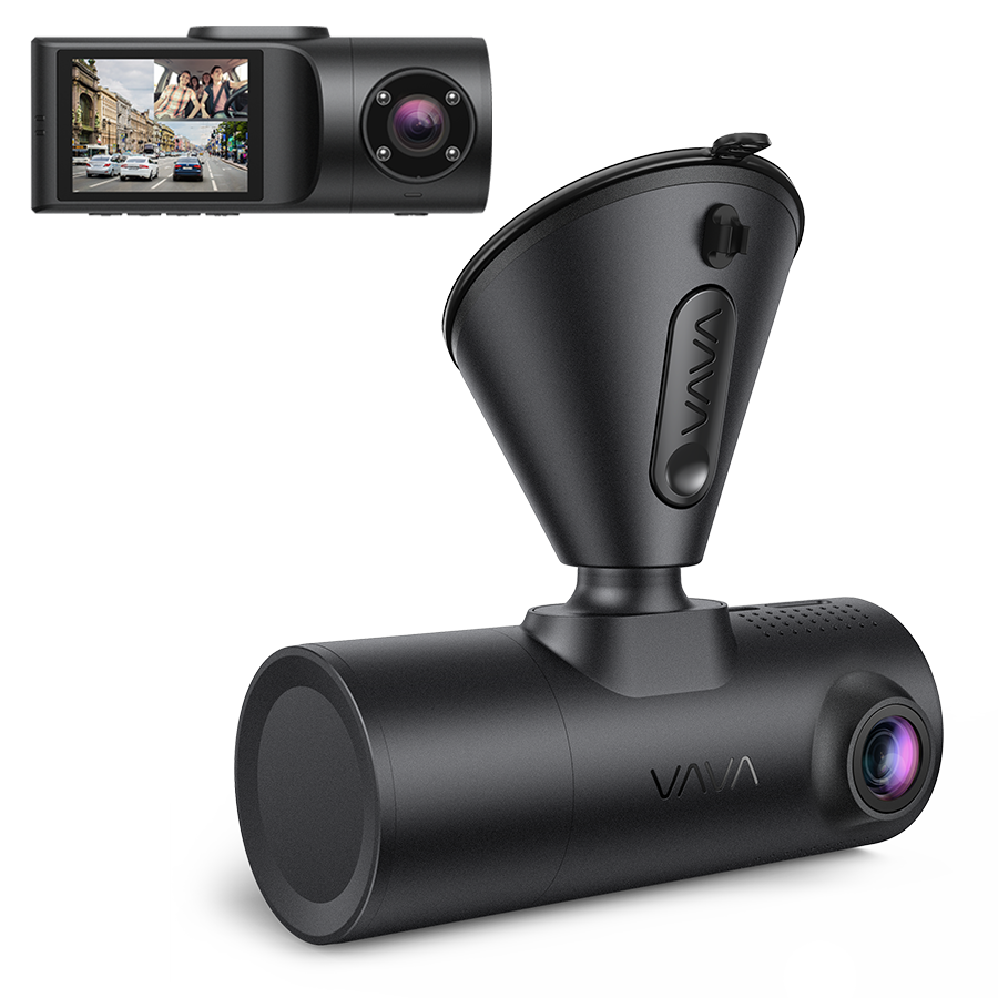 VAVA 2K Front and Rear Dual Dash Cam