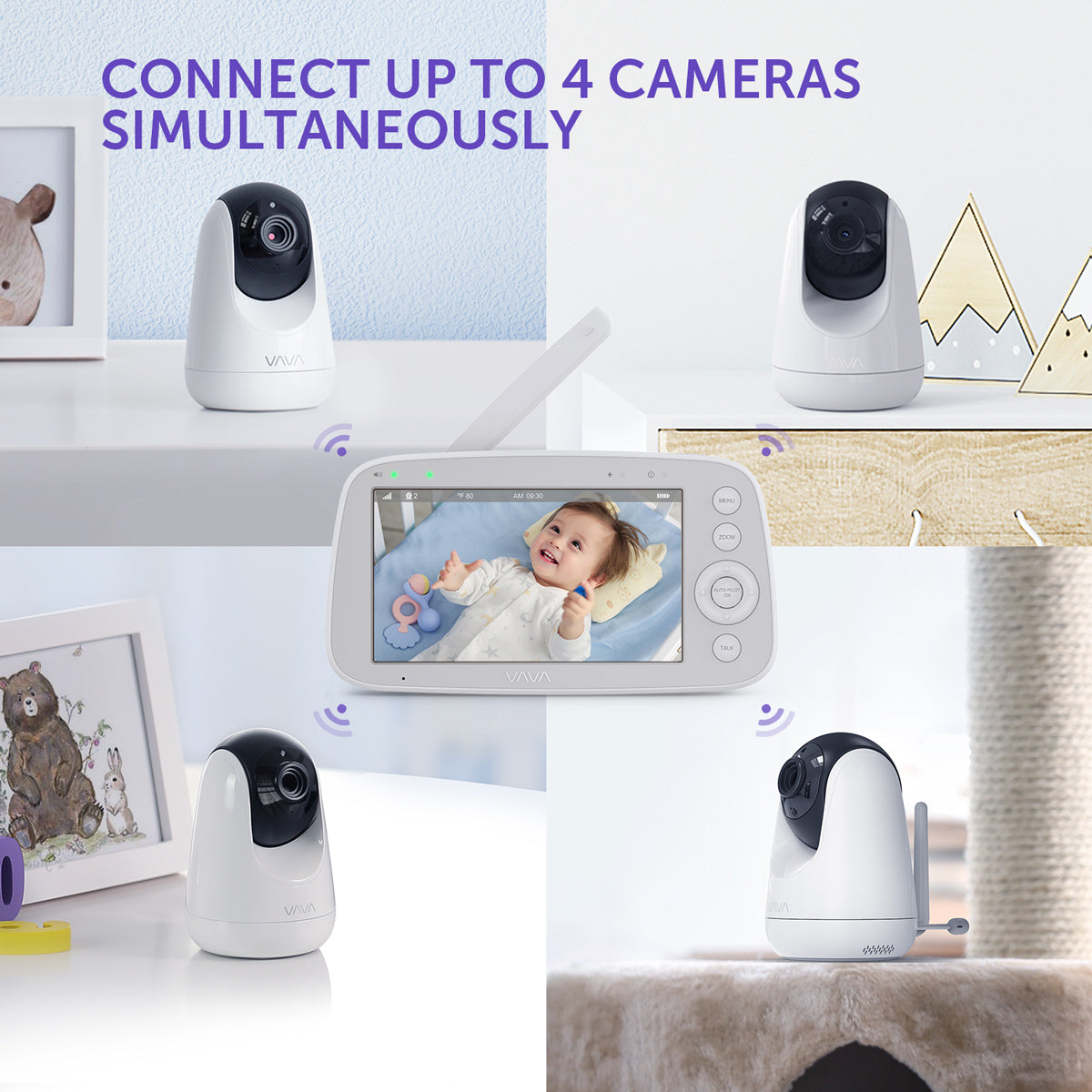 connect up to 4 cameras simultaneously