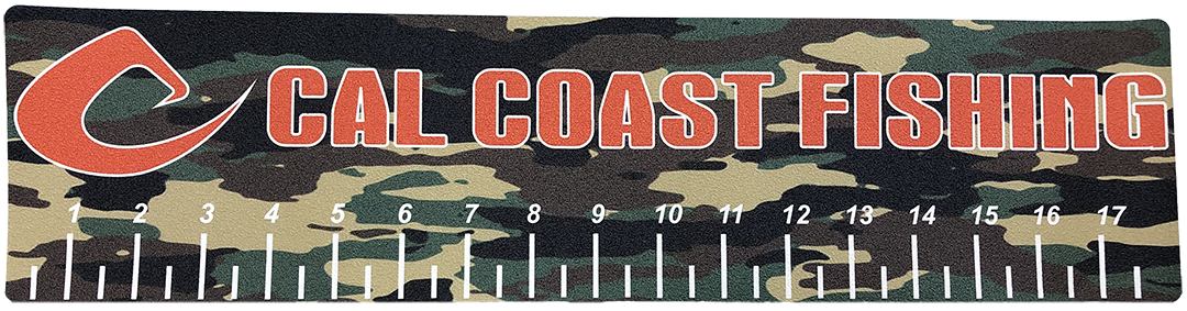 Cal Coast Fishing Carpet Decal Camo Ruler