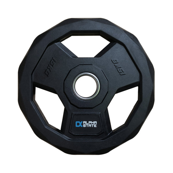 Tri-Grip Rubber Weight Plate