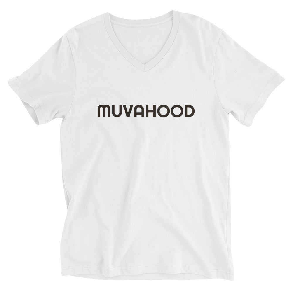Muvahood Black Unisex Short Sleeve V-Neck T-Shirt