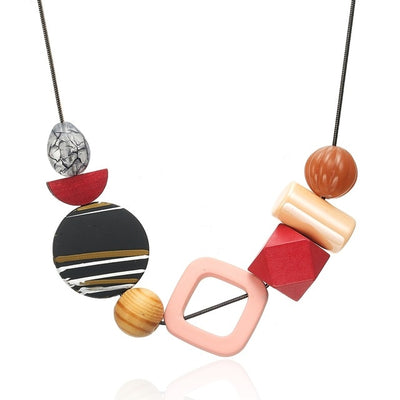 Unusual  Geometric Necklaces