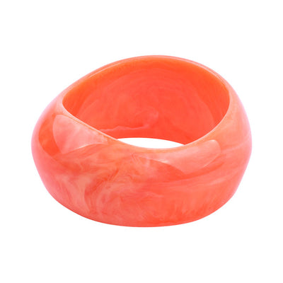 Resin Wide Bangles Brazaletes