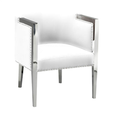 ELVIS WHITE LEATHERETTE CHAIR - itkhome