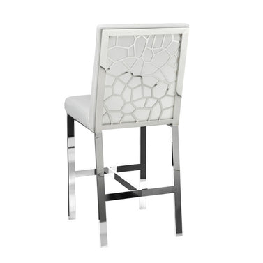 Wellington White Leatherette Stool