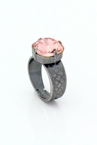 Antic silver and  Swarovski crystal ring