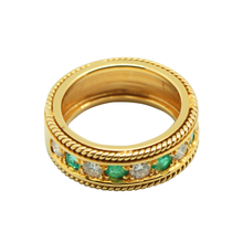 Load image into Gallery viewer, 18K Gold Emerald Ring