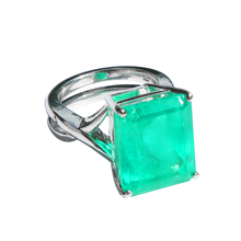 Load image into Gallery viewer, 18K White Gold Emerald Ring