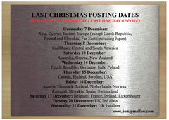 Last Royal Mail Christmas Posting Dates at www.honeymellow.com