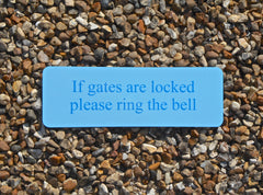 Add your own text to blue sign at Honeymellow.com