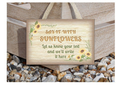 Sunflower Sign: Add your own text at honeymellow