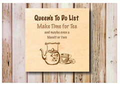 Make Time for Tea Maple Wood Sign