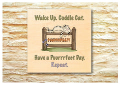 Wood quote cat sign handmade at Honeymellow