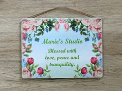 Add Your Own Text to our Rose Arch Blank Sign in Wood or Metal