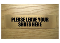 Leave your shoes here brushed gold vital sign: buy online at Honeymellow