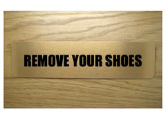Remove your shoes brushed gold vital sign: buy online at Honeymellow