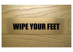 Wipe Your Feet brushed gold vital sign: buy online at Honeymellow