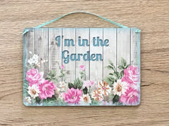 Double-Sided Blank Hanging Metal Signs in Floral Designs: Add Your Text