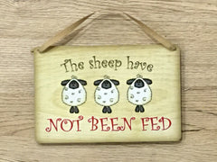 Sheep/Lambs have been fed / Not Fed Double-Sided Silver Sign