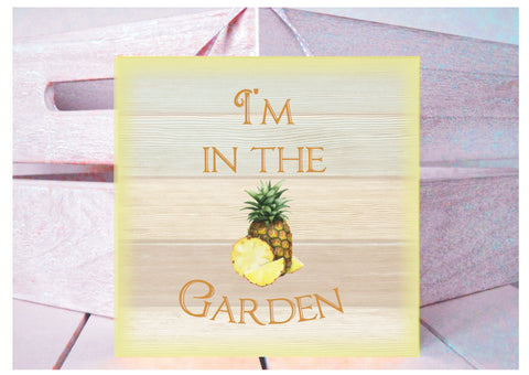 Add Your Own Text to Pineapple Sign in Wood or Metal