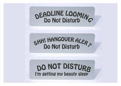 Do not Disturb Aluminium Signs from Honeymellow