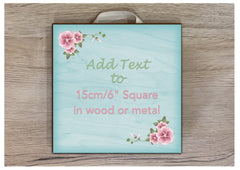 Add Your Own Text to Aqua Floral Designed Sign at Honeymellow.com