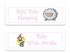 Reversible Baby Sleeping / Baby Awake Hanging Sign at Honeymellow