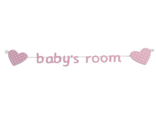 Pink Baby's Room Heart Garland at Honeymellow