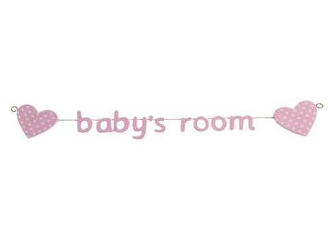 Baby's Room Heart-Themed Garland