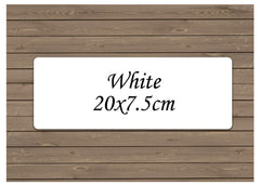 Custom-Made White Large Sign for Personalisation.  Add Your Own Text at Honeymellow.
