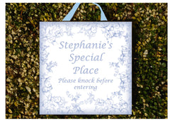 Add your own text to our Handmade Blue Haze Sign Design in Wood or Metal at www.honeymellow.com