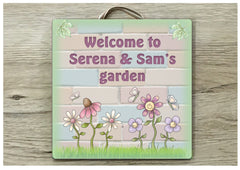 Garden or Summerhouse Sign in Wood or Metal: Add Your Own Text Buy Online at www.honeymellow.com