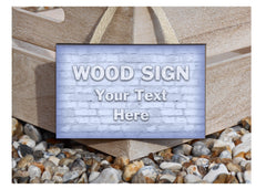 Personalise Metal Custom Made Brick Effect Signs at Honeymellow.